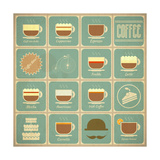 Coffee Labels Set Prints by  elfivetrov