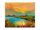 Sunset Over Lake Prints by Boyan Dimitrov