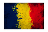 Romanian Flag Print by igor stevanovic