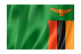 Zambian Flag Prints by  daboost