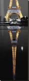 Eiffel At Night Reproducción en lienzo de la lámina por AJ Messier