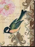 Garden Bird Stretched Canvas Print by Paige Davis