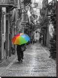 Coloured Umbrella Stretched Canvas Print by Maggie Sale