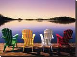 Muskoka Chairs Reproduction transférée sur toile par John Bartosik