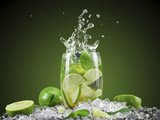 Mojito Cocktail With Splash And Ice Photographic Print by  Jag_cz