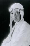 Amelia Earhart in White Poster Photo
