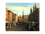 Piazza Navona In Rome Prints by  kirilstanchev