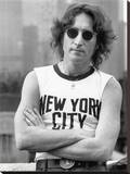 John Lennon (NYC - Bob Gruen) Stretched Canvas Print