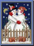 Snowman VII Stretched Canvas Print by Tom Wood