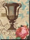 Garden Urn Stretched Canvas Print by Paige Davis
