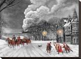 Time For A Snowman Toile tendue sur châssis par Reza Navabi