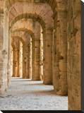 Roman Arches Stretched Canvas Print by Maggie Sale
