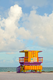 Miami Beach Florida Lifeguard House Print by  Fotomak