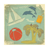 Retro Travel Postcard Prints by  elfivetrov