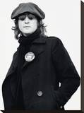 John Lennon (Button - Bob Gruen) Stretched Canvas Print
