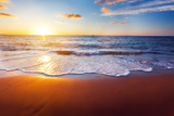 Sunset And Beach Photographic Print by  Hydromet