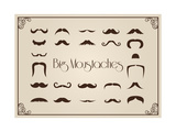 Mustaches Collection Posters by  Thomaspajot
