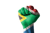 Fist Painted In Colors Of South Africa Flag Photo by  vepar5