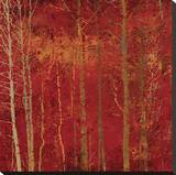 Red Trees Stretched Canvas Print by Starlie Sokol-Hohne