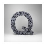 Letter Q Print by  badboo