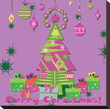 Christmas In Pink Stretched Canvas Print by Ann Hoang