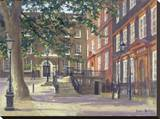 Kings Bench Walk, Inner Temple Stretched Canvas Print by Julian Barrow
