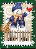 Snowman I Stretched Canvas Print by Tom Wood