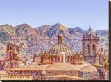 Cusco Skyline Stretched Canvas Print by Antony Moran