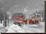Christmas Eve Stretched Canvas Print by Reza Navabi