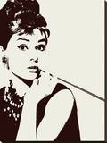 Audrey Hepburn-Cigarello Stretched Canvas Print