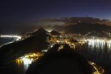 Night Panoramic View Of Rio De Janeiro Poster by luiz rocha