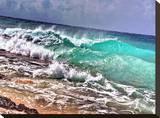 Crashing Waves 1 Stretched Canvas Print by Tatiana Lopatina