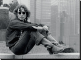 John Lennon (Sitting - Bob Gruen) Stretched Canvas Print