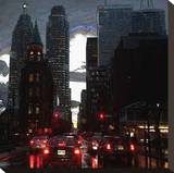 City Lights Stretched Canvas Print by Joseph Vitale