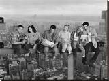 Friends Lunch on a Skyscraper Stretched Canvas Print