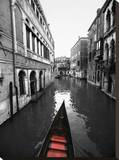 Red Gondola Stretched Canvas Print by Dale MacMillan
