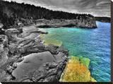 Peninsula National Park Georgian Bay I Hl Stretched Canvas Print by Mike Kovacs