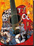 '58 Guitar Stretched Canvas Print by Daryl Thetford