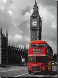 London Red Bus Stretched Canvas Print