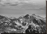 Mountain Peaks Stretched Canvas Print by AJ Messier