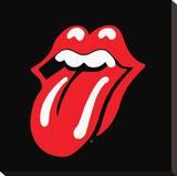 Rolling Stones-Lips Bedruckte aufgespannte Leinwand