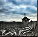 Leuty Lifeguard Station, Toronto Stretched Canvas Print by Martin Pinker