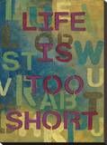 Life Is Too Short Stretched Canvas Print by Susan Allen