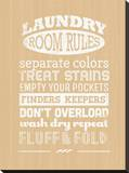 Laundry Room Rules II Stretched Canvas Print by Pamela Fogul