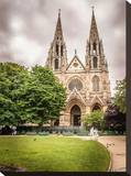Old Church In Paris Stretched Canvas Print by Jack Brittain