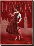 London Stretched Canvas Print by Tom Wood