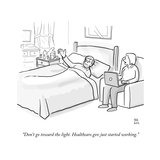 """Don't go toward the light. Healthcare.gov just started working."" - Cartoon Regular Giclee Print by Paul Noth"