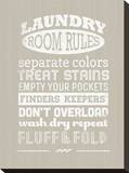 Laundry Room Rules I Stretched Canvas Print by Pamela Fogul