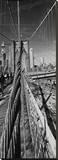 New York Bridge Stretched Canvas Print by AJ Messier