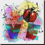 Lady Bug Love II Stretched Canvas Print by Bui Khiet